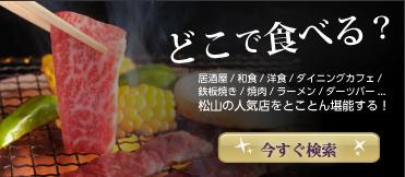 愛媛県松山市の店舗検索(居酒屋 / 和食 / 洋食)